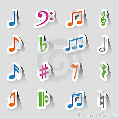 Collections of music notes