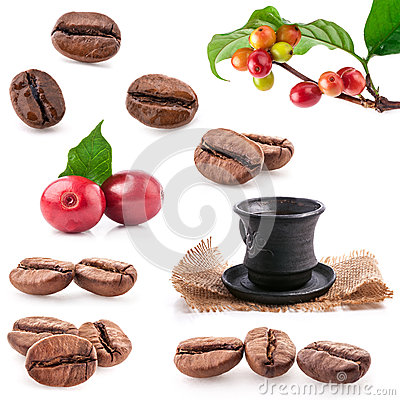 Free Collections Of Roasted And Red Coffee Beans Stock Photo - 29918690