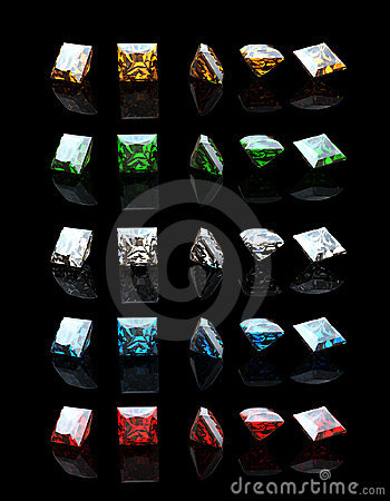 Collections of square gemstone