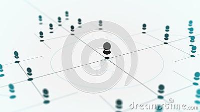 Collegamento delle entità Tecnologia di rete, informazioni della rete di dati di web, media sociali, estratto di comunicazione di illustrazione di stock