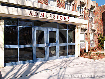 College admissions building