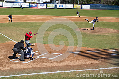 College Baseball Game Editorial Photography