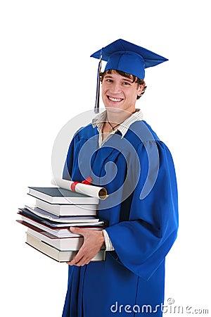 College Graduate Student Holding Books