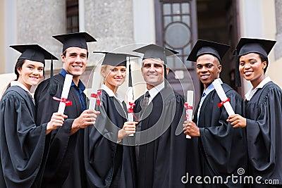 College graduates professor