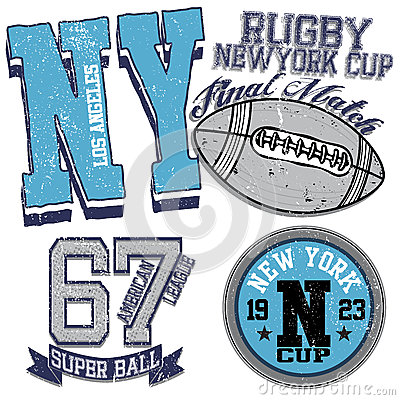 College Graphics For T Shirt New York Rugby Stock Vector Image 67742468
