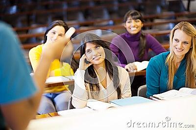 College professor lecturing
