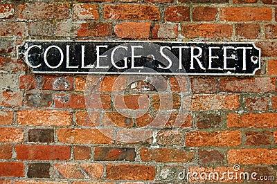 College Street roadsign
