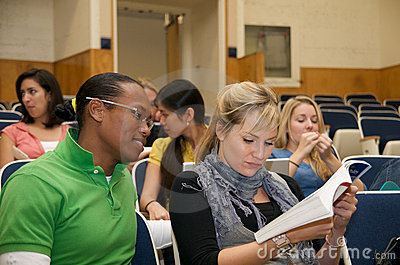 College student diversity in a lecture hall