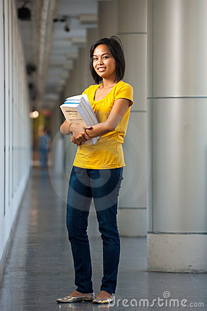 College Student Full Length Portrait Books