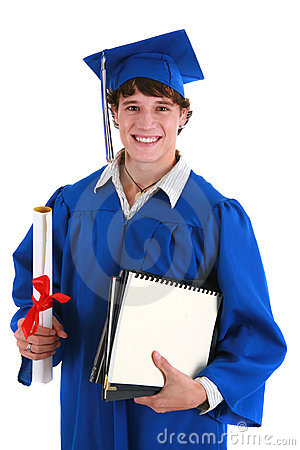 College Student Holding Graduation Certificate
