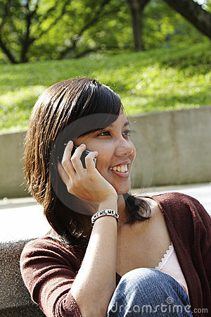 College Student on the Phone