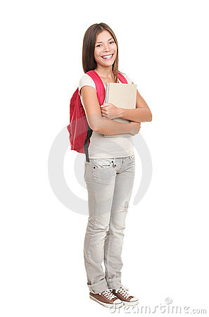 Free College Student Standing On White Background Stock Photography - 15264232