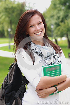 Free College Student With Book And Bag Royalty Free Stock Photos - 26778458