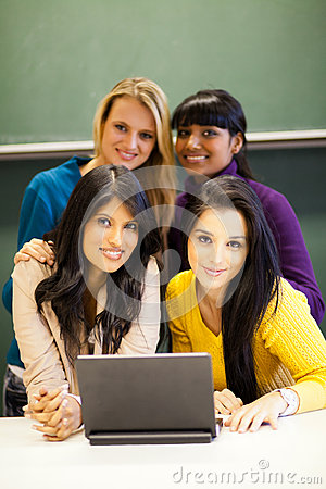 College students with laptop