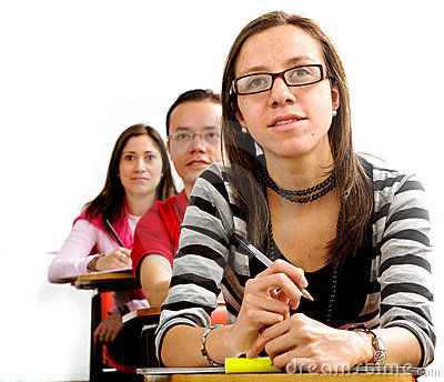 College students in a lesson