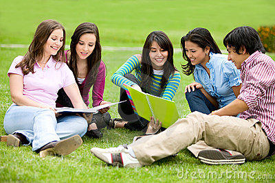 College Or University Students Royalty Free Stock Image - Image: 6929796