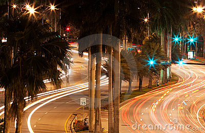 Collins Avenue at Night