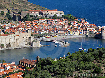 Collioure Harbour Royalty Free Stock Photography Image
