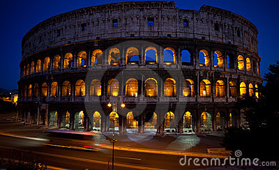 Colliseum at night