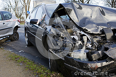 Collision Between Two Cars. Accident Stock Photo - Image ...