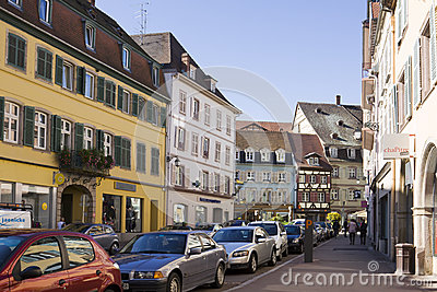 Colmar cityscap in Alsace, France Editorial Image