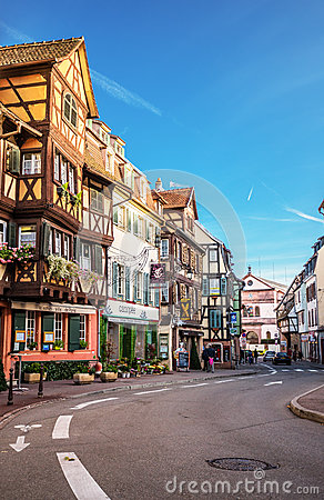 Free Colmar, France - November 8, 2014: Colmar Street View To Colorfu Royalty Free Stock Photo - 63216775