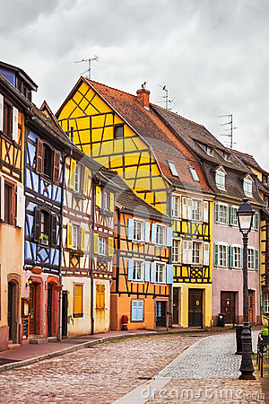 Free Colmar, Petit Venice, Street, Lamp And Traditional Houses. Alsac Royalty Free Stock Photography - 52569057