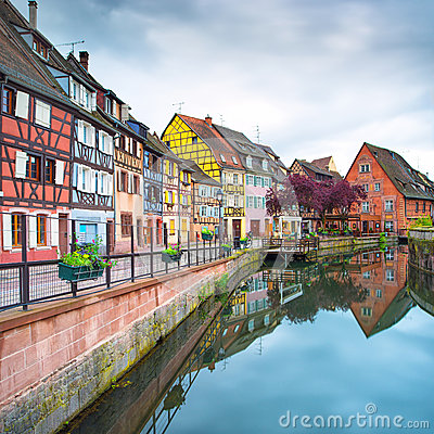 Free Colmar, Petit Venice, Water Canal And Traditional Houses. Alsace, France. Royalty Free Stock Photography - 31459327