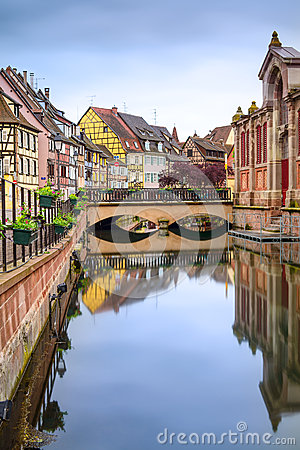 Free Colmar, Petit Venice, Water Canal And Traditional Houses. Alsace, France. Stock Photos - 31594533