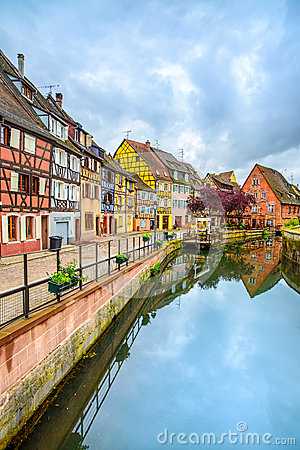 Free Colmar, Petit Venice, Water Canal And Traditional Houses. Alsace, France. Royalty Free Stock Photos - 32753578