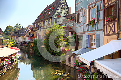 Colmar romantic town in Alsace