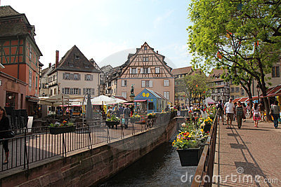 Colmar village at Easter Editorial Photography