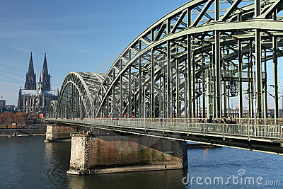 Cologne bridge Editorial Photo