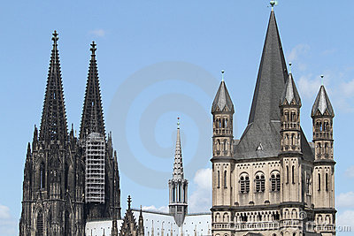 Cologne Cathedral and Gross St. Martin