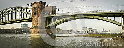 Cologne Panorama Editorial Stock Photo