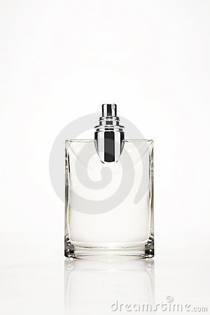 Cologne or perfume bottle Stock Photo