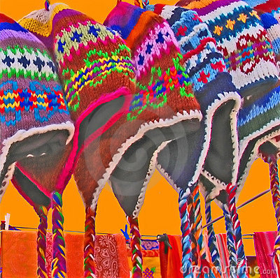 Cololrful chullo hats