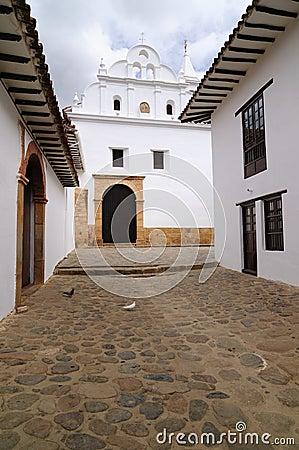 Free Colombia, Colonial Carmen Church In Villa De Leyva Stock Image - 28523811