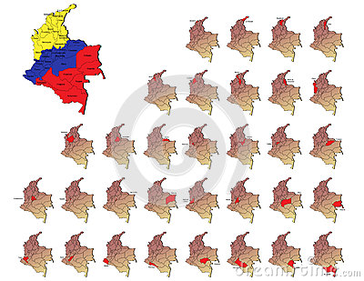 Colombia provinces maps