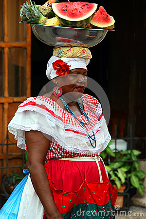Colombia woman in Cartagena Editorial Photography