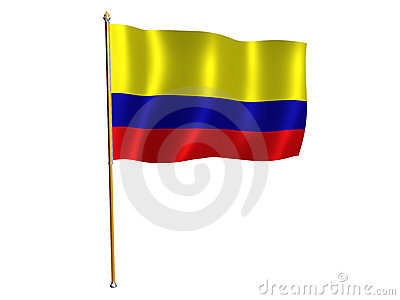 Colombian silk flag