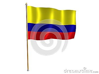 Colombian silk flag