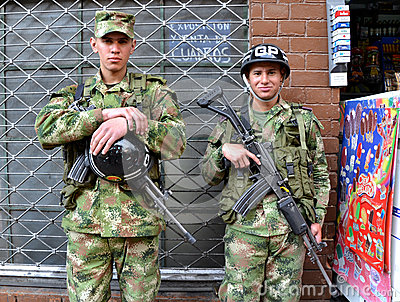 Colombian Soldiers Editorial Stock Image