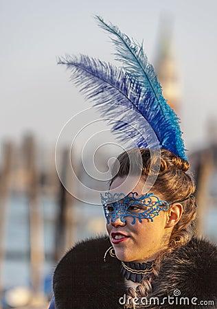 Colombina Mask Editorial Photo