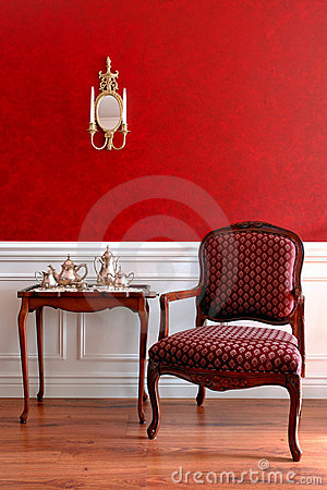 Free Colonial American Style Old House Interior Stock Photography - 12646812