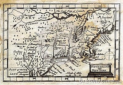 Colonial antiguo Nueva Inglaterra de la correspondencia de la velocidad de 1635 Juan