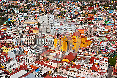 Colonial architecture Guanajuato Mexico Editorial Image