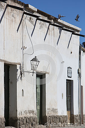 Free Colonial Architecture In Cachi, Blue Sky And Birds. Argentina Stock Photography - 59068412