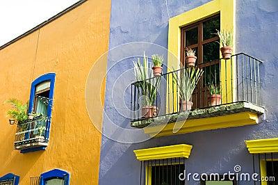 Colonial architecture in Puebla. Mexico