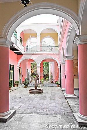 colonial building interior, Havana